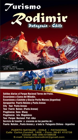 tours full day excursiones  glaciar perito moreno torres del paine