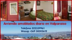 se arrienda diario casa amoblada 1d1b wifi valparaiso