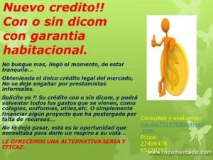 no se deje enga�ar!! ofrecemos el unico credito legal con o sin dicom